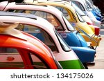 classic car at bangkok  ...   Shutterstock . vector #134175026