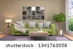 interior of the living room. 3d ...   Shutterstock . vector #1341763058