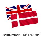 national fabric flags of... | Shutterstock . vector #1341768785