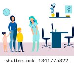 mother took the children to the ... | Shutterstock . vector #1341775322