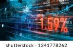 financial stock market numbers... | Shutterstock . vector #1341778262