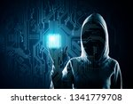 hacker pointing at creative... | Shutterstock . vector #1341779708