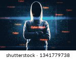 hacker with digital virus... | Shutterstock . vector #1341779738