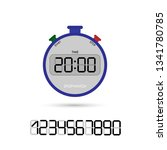 electronic stopwatch with a set ...   Shutterstock .eps vector #1341780785