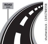road  way or highway...   Shutterstock .eps vector #1341788558