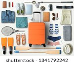 travel concept with a large... | Shutterstock . vector #1341792242
