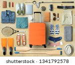 travel concept with a large... | Shutterstock . vector #1341792578