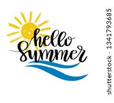 hello summer hand drawn brush...   Shutterstock .eps vector #1341793685