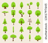 tree vector silhouette icons... | Shutterstock .eps vector #1341797645