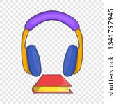 audio book icon in cartoon... | Shutterstock .eps vector #1341797945