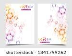 vector templates for brochure... | Shutterstock .eps vector #1341799262