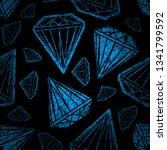 vector seamless grunge textured ... | Shutterstock .eps vector #1341799592