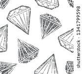 vector seamless grunge textured ... | Shutterstock .eps vector #1341799598