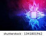 creative circuit chip wallpaper.... | Shutterstock . vector #1341801962