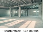 empty warehouse wall or... | Shutterstock . vector #134180405