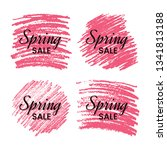 set of four spring sale banners ... | Shutterstock .eps vector #1341813188