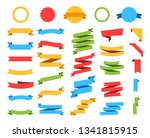 flat vector ribbons banners... | Shutterstock .eps vector #1341815915