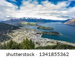 panoramic view  the remarkables ... | Shutterstock . vector #1341855362