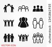 team icon vector sign symbol... | Shutterstock .eps vector #1341861935