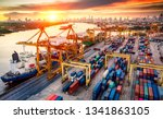 logistics and transportation of ... | Shutterstock . vector #1341863105