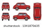 small retro car vector mockup... | Shutterstock .eps vector #1341870635