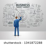 businessman drawing business... | Shutterstock .eps vector #1341872288