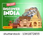 discover india travel banner.... | Shutterstock .eps vector #1341872855