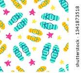 summer colorful pattern. summer ... | Shutterstock .eps vector #1341873518