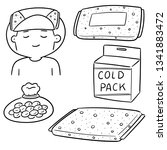 vector set of cold pack | Shutterstock .eps vector #1341883472