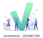 concept done job  finished... | Shutterstock .eps vector #1341887258
