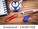 psychiatry text on pencil.... | Shutterstock . vector #1341897338