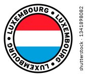 round luxembourg flag clipart | Shutterstock .eps vector #1341898082