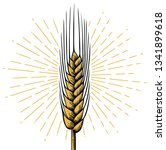 wheat ear   vintage engraved... | Shutterstock .eps vector #1341899618