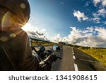motorcycle driver riding in... | Shutterstock . vector #1341908615