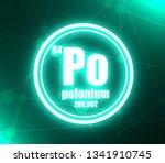 polonium chemical element. sign ... | Shutterstock . vector #1341910745