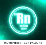 radon chemical element. sign... | Shutterstock . vector #1341910748
