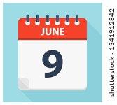 june 9   calendar icon  ... | Shutterstock .eps vector #1341912842