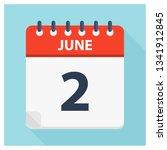 june 2   calendar icon  ... | Shutterstock .eps vector #1341912845
