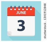 june 3   calendar icon  ... | Shutterstock .eps vector #1341912848