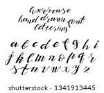 set of hand drawn typeface ... | Shutterstock . vector #1341913445