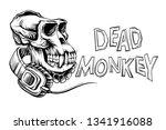 Dead Monkey Skull With...