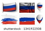 set of russia flags collection... | Shutterstock .eps vector #1341922508