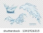 fresh water pouring down... | Shutterstock .eps vector #1341926315