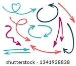 hand drawn diagram arrow icons...   Shutterstock .eps vector #1341928838