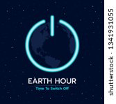 earth hour time to switch off... | Shutterstock .eps vector #1341931055