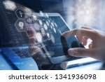 business technology  iot... | Shutterstock . vector #1341936098