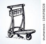 big empty arrival move handcart ...   Shutterstock .eps vector #1341938228