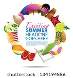 summer background template. eps ... | Shutterstock .eps vector #134194886