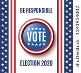 american election 2020... | Shutterstock .eps vector #1341954002