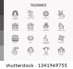 tolerance thin line icons set ...   Shutterstock .eps vector #1341969755